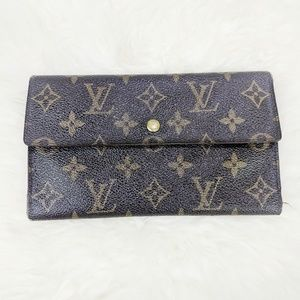 Louis Vuitton Tri Fold Leather Wallet